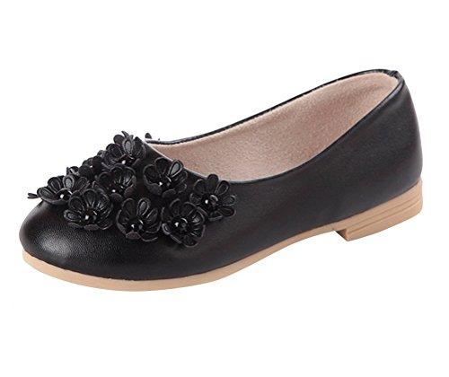 Brinny Bailarina Sapatos Forma Menina Semi Pequenas Flores Ervilhas Sapatos Macios Sapatos De Festa Solas Princesa Negra