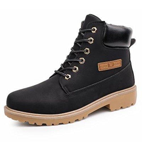 M,en's Genuine Leathe Lace Up Casual Shoes Black B