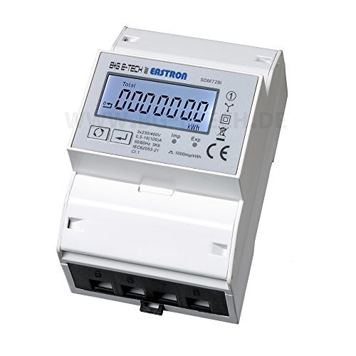 SDM72Bi - digitaler zweirichtungs Drehstromzähler mit momentan Lastanzeige und Tageszählfunktion (rückstellbar)