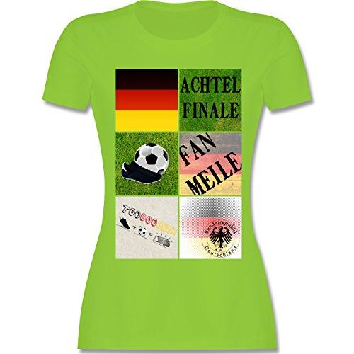 EM 2016 - Frankreich - Deutschland Achtelfinale Fan Shirt - tailliertes Premium T-Shirt mit Rundhalsausschnitt für Damen Hellgrün