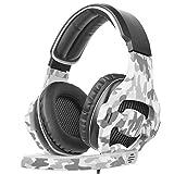 99native Gaming Headset für PS4 / Xbox One/PC Über-Ohr-Gaming-Kopfhörer, weiche Ohrenschützer isoliert Lärm für Sport und Fitness (Blau)