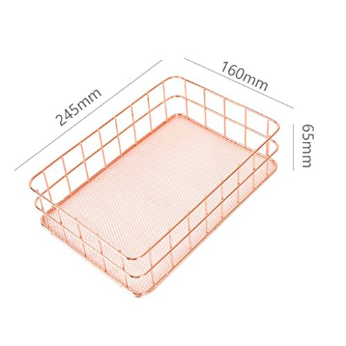 ELECTROPRIME 3 Pieces Metal Storage Basket, Stationery Pen Holder, Tableware Organizer