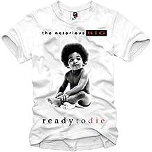 E1Syndicate - Camiseta (Notorious B.I.G 2Pac Eazy E Tupac NWA Dr. Dre etc.) - blanco blanco medium