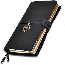 eavann NOTEBOOK, medievale classico in pelle fatto a mano stile vintage, Cavo, Bundle pagine ricaricabili, Nero taccuino del viaggiatore Classic Notebook