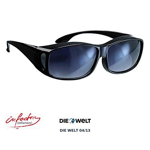 infactory Schärfer-Sehen-Set mit 2 Überziehbrillen