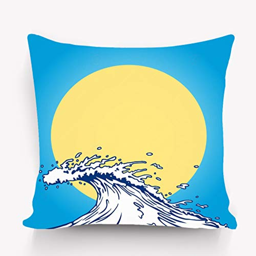 btyi7yos Kissenbezüge Pillow case Ocean Wave Cartoon Clip Art Baby Purple 18 * 18 inch