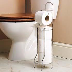 toilettenpapier rollen halter frei stehend f r einfache aufbewahrung k che haushalt. Black Bedroom Furniture Sets. Home Design Ideas