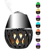BLOOMWIN Humidificador Difusor de Aromaterapia Difusor de Aceites Esenciales con antorcha LED 150ML 11W 9 colores temporizador Perfecto para Hogar, Oficina, Bebé, Dormitorio y Baño