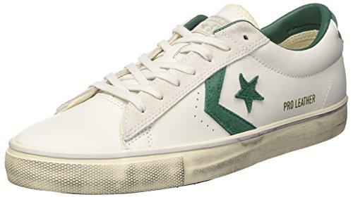 Converse Pro Vulc Ox Distressed, Chaussures de Gymnastique Homme Blanc Cassé (White Dust/a.green/mouse)