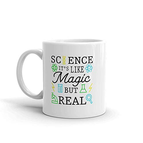 Funny Humor Novelty Science It's Like Magic But Real 11oz Ceramic Coffee Tea Mug Cup - Magic Mikrowelle Chef