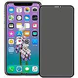(عبوة من قطعتين) شاشة حماية لهواتف ايفون 11 برو 2019/ايفون X/XS (تغطية كاملة) مضاد للتجسس مصنوع من الزجاج المقسى مع صينية لسه