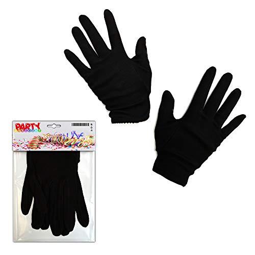 Handschuhe Damengröße, Baumwolle, Schwarz ()