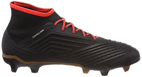 adidas Herren Predator 18.2 FG Fußballschuhe Schwarz (Core Black/ftwr White/solar Red)