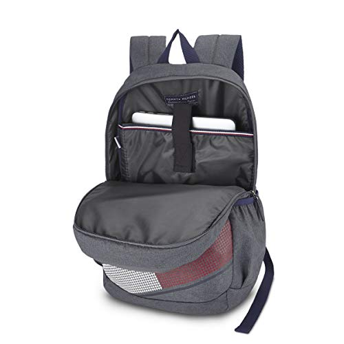 Best tommy hilfiger backpack in India 2020 Tommy Hilfiger Xylo 30 Ltrs Grey Laptop Backpack (TH/XYLOLAP07) Image 4