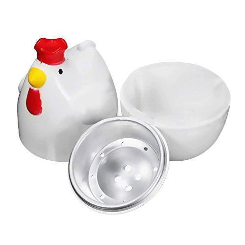 non-brand MagiDeal Huhn Form Mikrowelle Eierkocher, Spülmaschinenfest - 1 Eier
