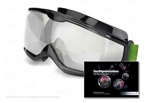 ORIGINAL Rauschbrillen - Alcopopbrille Tagversion ca. 0,8 Promille inkl. 123 - seitigem Methodenhandbuch zur Suchtprävention mit Rauschbrillen, mit praktischen Anwendungsbeispielen