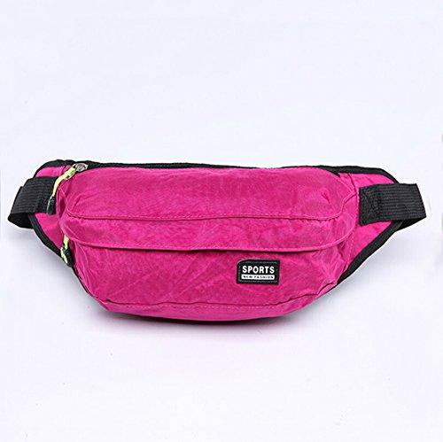 orrinsports poliestere piccolo Marsupio con 2cerniere e cintura regolabile per caccia, escursionismo, corsa, in viaggio, Pink