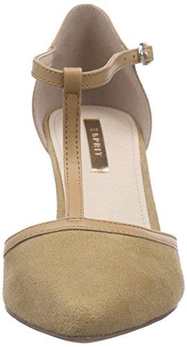 Esprit Rossy T-strap, Chaussures à talons avec bride style salomés femme Marron - Braun (225 toffee)