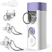 HYLOGY Nebulizador Inhalador Portátil, Recargable USB Kit Ultrasónico Nebulizador, con Boquilla y Máscara para Adultos y Niños,blanco