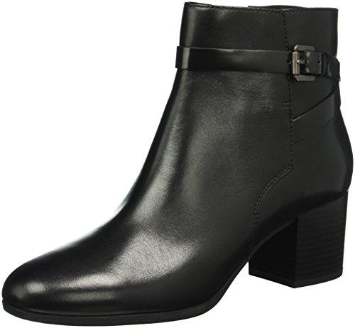 Geox Damen D Petalus C Kurzschaft Stiefel, Schwarz (BLACKC9999), 38 EU