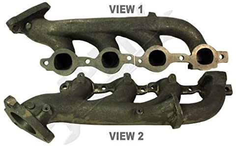 APDTY 12605246 Exhaust Manifold Cast Iron Assembly Fits Right Passenger-Side 1999-2003 Chevrolet or GMC Escalade Silverado Sierra Suburban Tahoe Yukon 4.8L 5.3L 6.0L Engine w/California Emissions by