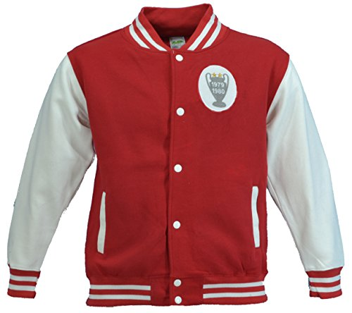 Adults - Mens / Ladies Unisex European Cup Winners 1979 and 1980 - Baseball / Football Jacket in Red/White Sizes: XS - XXL FREE POSTAGE