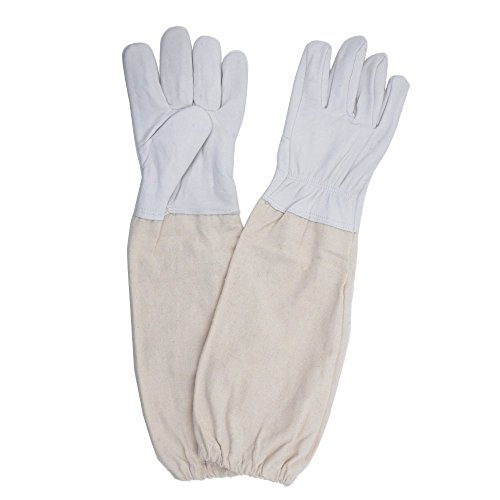 1-Paar-Wei-Bienenzucht-Schutz-Handschuhe-Ziegenleder-Bee-halten-Belftete-langen-rmeln-Sting-verhindern-Tools-XL