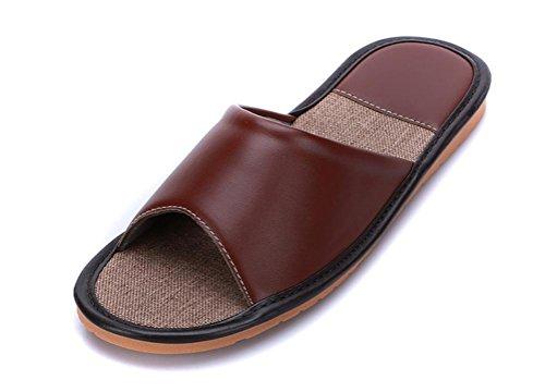 Mhgao da donna in pelle Home interior pantofole per il tempo libero 2