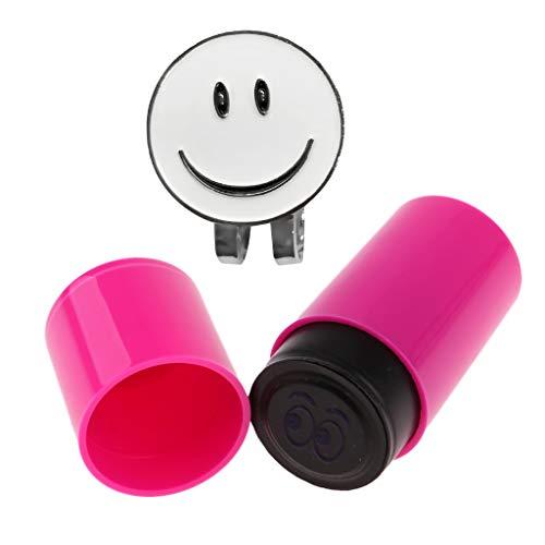 CUTICATE Lächeln Gesichts Golfball Markierung Mit Magnetischem Hut Klipp Golfball Stempel - Auge, wie beschrieben