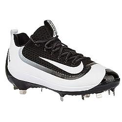 Nike Mens Air Huarache 2kfilth Elite Low Baseball Cleats (11.5 D(m) Us , Black White)