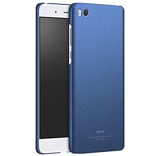 Xiaomi Mi 5s Hülle, MSVII® PC Kunststoff Härte Hülle Schutzhülle Case Und Displayschutzfolie für Xiaomi Mi 5s - Grau JY30079 Blau