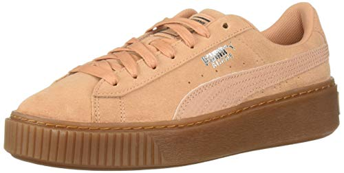 PUMA Women s Suede Platform Sneaker Dusty Coral Silver 9e4e8d4884e