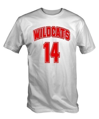 Kostüm Musicals - Wildcats 14 T-Shirt (WEISS S - XXL) - Klein, Small