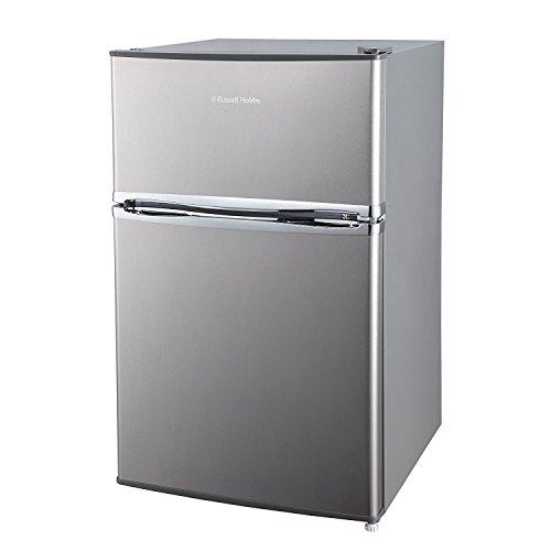 Russell Hobbs RHUCFF50SS Stainless Steel effect 50cm Wide Under Counter Freestanding Fridge Freezer, Free 2 Year Guarantee