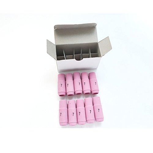 10pk TIG torcia saldatore accessories-10N47(# 7) Ugello in ceramica tazze Shield Collet Body Fit WP172618dB PTA HW Serie