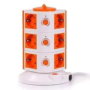 Special Tower 12er-Steckdosenturm - Orange
