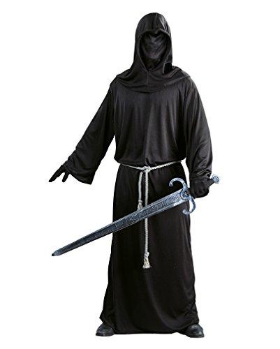 Dunkler Krieger Sensenmann Kostüm für Herren Gr. M/L, (Teufel Männer Halloween Kostüm)
