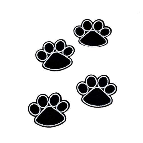 Carry stone10 stücke Schwarz Stickerei Patch Hund Klaue Katze Pfote Abzeichen Applikationen für Kleidung Jacke Hut Langlebig und Praktisch -