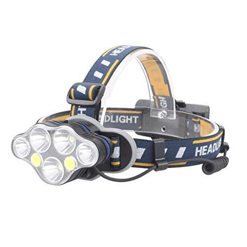 YROD light Stirnlampe, Scheinwerfer LED Licht Fischen Aufladung Gemütlich Suchscheinwerfer Nacht Camping Super Hell Bergmann Notfall Multifunktion Rampenlicht Flutlicht Laternen Taschenlampe - Bergmann Tasche