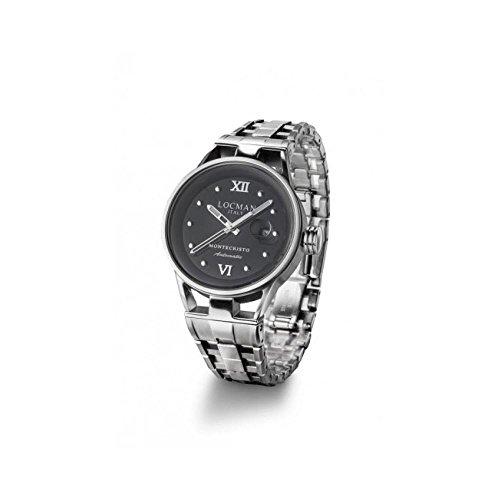 Montre Locman Montecristo 0525a01a-00bknkb0automatique Titane Quandrante Noir Bracelet acier
