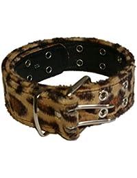 Gürtel mit Fell Leopard mit Ösen Größen 110