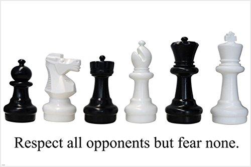 Schachfiguren aus eurochess Motivational Poster 24x 36Respekt aber Fear None (Motivational Poster 24x36)