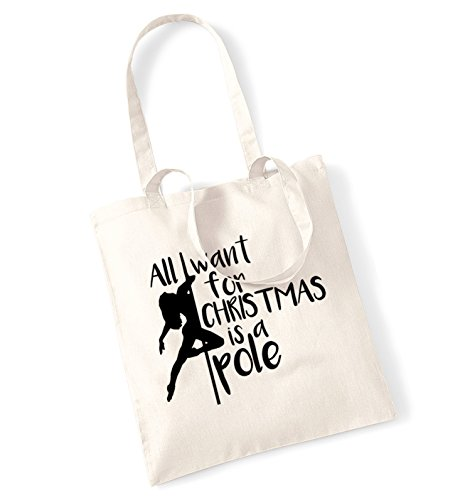 All I Want for Christmas Is a Pole Borsa Natural