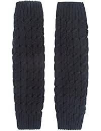 ILOVEDIY Guêtre Jambières Legging Chausettes Hiver Chaud Tressé Tricot Femme