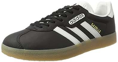 Da Uomo Adidas Gazelles76224Nero Bianco Scarpe Da Ginnastica