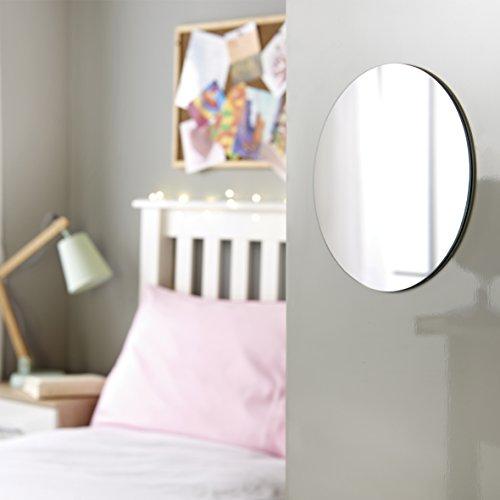 Anika 3Stück, selbstklebend, rund, Spiegel 15cm, weiß, 15x 0,5x 15cm - 3 Stück Spiegel
