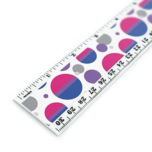 Bi bisexualität Pride Flagge pink violett blau 30,5cm Standard und metrisches Kunststoff Lineal
