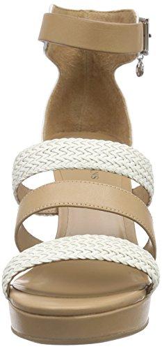 Armani - C551915, Scarpe col tacco con cinturino a T Donna Bianco (Weiß (BIANCO - WHITE 1C))