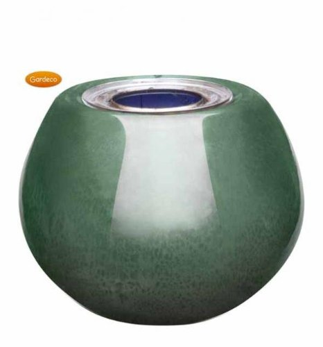 Gardeco Round Gel Burner Green Glazed