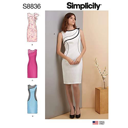 Simplicity US8836R5 Patron de robe Miss Petite R5 (14-16-18-20-22)